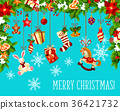 christmas garland vector 36421732