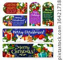 Christmas holidays vector greeting gift tags 36421738