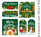 Christmas tag and label of winter holiday gift 36421769