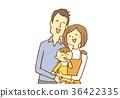젊은, 아기, 부부 36422335