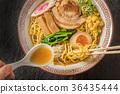라면 Ramen set of typical Japanese style 36435444