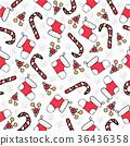 Christmas season hand drawn seamless pattern 36436358
