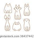 矢量 畫線 動物 36437442