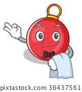Waiter Christmas ball character cartoon 36437561