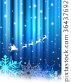 크리스마스 크리스마스 프레임 눈송이 36437692
