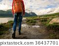 hiker hiking backpacker 36437701