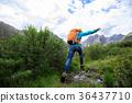 jumping hiker hiking 36437710
