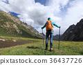 female hiker hiking 36437726