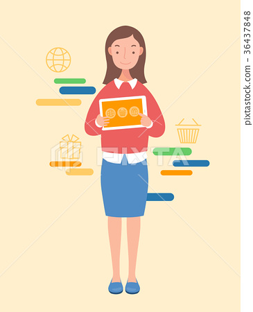 Woman with tablet pc 36437848