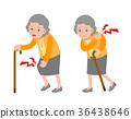 Senior woman with body pain 36438646