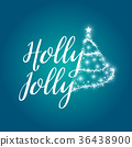 Holly Jolly Christmas icon design.  36438900