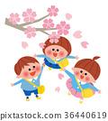 櫻花和兒童 36440619