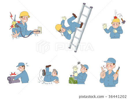 Workplace accident - Stock Illustration [36441202] - PIXTA