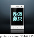 scanning qr code on the screen of your smartphone 36442735