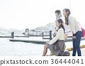 오노 미치를 관광하는 여성 삼인조 36444041