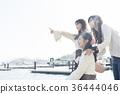 오노 미치를 관광하는 여성 삼인조 36444046
