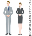 Businessman man and woman greeting 36444061
