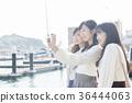 오노 미치를 관광하는 여성 삼인조 셀카 36444063