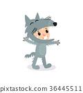 벡터, 늑대, 회색 36445511