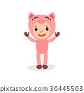 kid, costume, pig 36445563