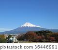 ท้องฟ้าเป็นสีฟ้า,ภูเขาฟูจิ,ภูเขาไฟฟูจิ 36446991