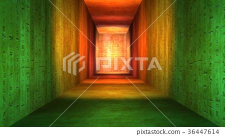 Egyptian Tunnel Hieroglyphs Corridor 36447614