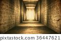 Egyptian Tunnel Hieroglyphs Corridor Vintage 36447621