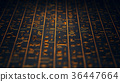 Golden Egyptian Hieroglyphs Ancient Wall 36447664