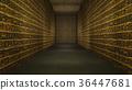 Golden Egyptian Tunnel Hieroglyphs Corridor 36447681
