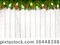 Christmas holiday decoration with branches of tree 36448398
