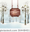 background christmas lamppost 36448401