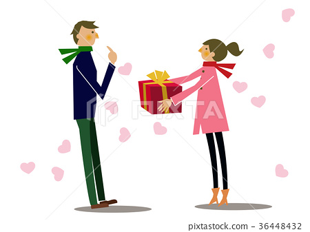 Gift. Valentine. Present. From women to men.