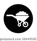 Wheelbarrow cart icon 36449585