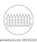 fence Icon 36450220