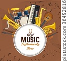 Musical, instrument, banner 36452816