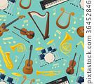 music seamless pattern 36452846