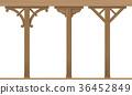 Set of vintage wooden columns 36452849