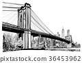 Brooklyn bridge in New York 36453962