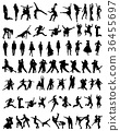 collection of people silhouettes  36455697