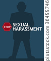 Sexual harassment poster with man 36455746