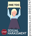 Sexual harassment poster with girl 36455747