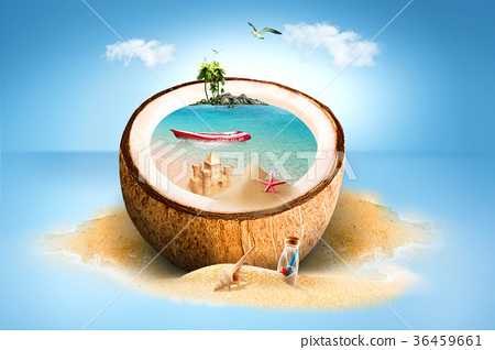 Hot Summer Theme - Graphic visual design 006 36459661