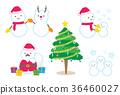 คริสต์มาส,ตุ๊กตาหิมะ,ซานต้า 36460027
