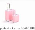 Travel suitcase pastel color 36460188