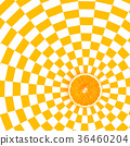 Orange slices on orange and white pattern color 36460204