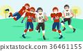 cartoon american football players 36461155