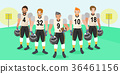 cartoon american football players 36461156