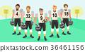 american football cartoon 36461156