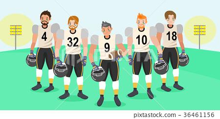 cartoon american football players 36461156