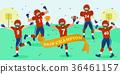 cartoon american football players 36461157